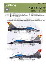 Bestfong Decals 1/144 GENERAL DYNAMICS F-16B Chinese Aircraft #6830 #6818 #6822