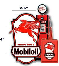 "4"" MOBIL PEGASUS OIL CAN LUBSTER PROJECT DECAL GAS PUMP"