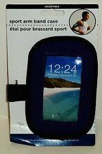 Sport Arm Band Case Adjustable Fits iPhone 5 & 6 Samsung Galaxy S5 & S4 BLUE