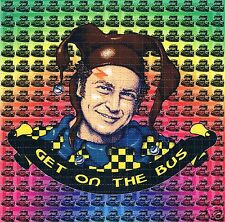 GET ON THE BUS Perforated Blotter Art 30 x 30 = 900 hits LSD Acid New/Mint