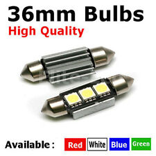 Number License Plate 36mm LED Xenon White Light Bulbs No Canbus Error Warning