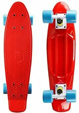 "Penny Style 22"" x 6"" Red/Blue Plastic Mini Cruiser Skateboard Banana Board"