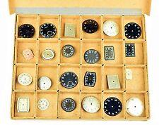 ZIFFERBLATT Konvolut Ersatzteile für alte Armbanduhr Uhr a. Uhrmachernachlass