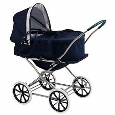 English Style 3-in-1 Doll Pram, Carrier, and Stroller for 24 inch Dolls Navy New