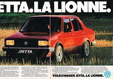 PUBLICITE ADVERTISING 054  1980  VOLKSWAGEN JETTA  la LIONNE  (2 pages)