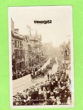 Leicester Coronation Procession Military 1911 RP pc used ECH Ref A950
