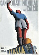 "TARGA VINTAGE ""MONDIALI CALCIO 1934 "" WORLD CUP ADVERTISING, POSTER, RETRO PLATE"