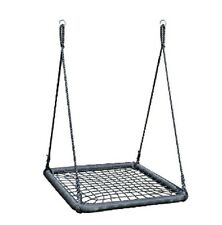 Square Nest Swing Spider Web Kids Special Needs Cubby House Play Equipment BLACK