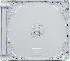 1 CD Super Jewel Box 10.4mm, 1 or 2 Disc, Super Clear Tray Replacement Case