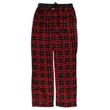 Tommy Hilfiger 6943 Mens Red Fleece Plaids & Checks Terrier Lounge Pants L BHFO