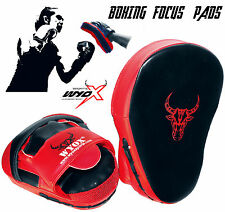 WYOX - CURVED PADDED PUNCH MITTS MMA Focus Training Boxing Target Pads(PAIR) NEW