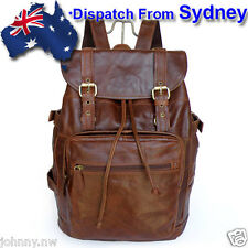 JM264-AU Men's Handme Vintage 100% Genuine Leather Backpack Travel Camping Bag