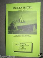 "Dunes Hotel Casino ""Miracle in the Desert"" Pamphlet Las Vegas Nevada"