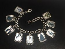 Silver Plated Charm Bracelet With Charms Star Wars The Force Awakens A New Hope