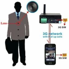 3G SIM GSM Button Spy Camera Hidden DVR Instant Video transmi Android Smartphone
