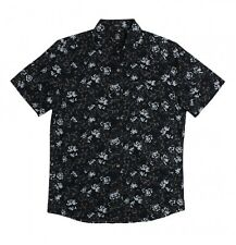 "VOLCOM Men's S/S Button Shirt ""Donnie"" - BLK - Size Large - NWT - Reg $80"