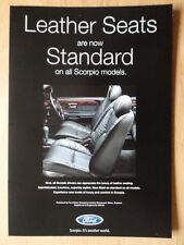FORD SCORPIO orig 1997 UK Mkt leather seats / airbags leaflet brochure