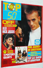 TOP 50 N°85 1987 POSTER MICHAEL JACKSON RAFT / OFF VOULZY BARNEY MICK JAGGER