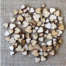 100PCS  Rustic Crafts Accessories Wooden Love Heart Table Scatter Wedding Decor