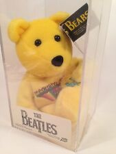 BEATLES Magical Mystery Tour Yellow Beanie Baby Beanbag Bear LIMITED #5255 MIB