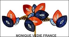 FAB RARE FRENCH MONIQUE VEDIE LINE VAUTRIN STUDENT TALOSEL RESIN PIN + EARRINGS