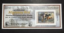 #RW66A 1999 - 2000 - US Federal Duck Stamp - Post Office FRESH