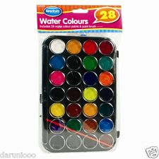 28 Watercolour Art Paint Set with Brush and Case Palette / Painting Artist kids