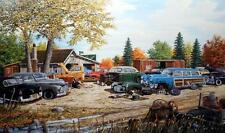 "Ken Zylla Junkyard Relics Old Time Art Print Signed and Numbered 30"" X 18"""