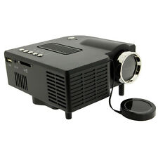 Mini Size Home Heater LED Projector VGA USB SD AV HDMI White for PC Laptop Video