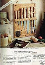 Publicité advertising 1977 Les Couteaux Panoplie Campagnerde de Cousances