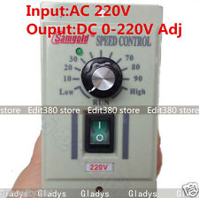 AC 220V 400W 1-phase DC Motor Speed Controller 0-220V Adjustable Driver Control