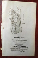 1898 Sketch Map Point Pleasant Crossing Mississippi River