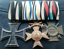 ✚7286✚ German WW1 mounted medal group Iron Cross Bavarian Merit Medal Honour C.