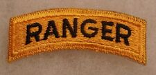 "RARE ""RANGER"" TAB VARIANT BLACK ON GOLD CUT EDGE VIETNAM ERA"