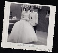 Old Vintage Antique Photograph Wedding Beautiful Bride and Groom 1951