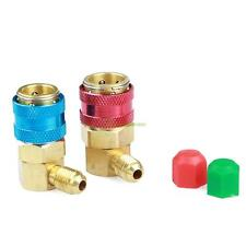 A/C R134a Quick Coupler Adapter Car High & Low Angle ACME Manifold Gas Connector