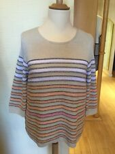 Olsen Jumper Size 20 BNWT Beige Orange Pink RRP £79 Now £35