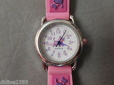 CHIPIE MONTRE BRACELET ENFANT FILLE VIOLET ROSE CHIEN SCOTTISH QUARTZ GIRL WATCH