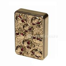 Zinc Alloy Skull USB Flameless Lighter Green Rechargeable Electronic G1CG