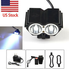8000 Lumen 2x  T6 LED Solar Storm Front Bicycle Light Headlamp Headlight US HL