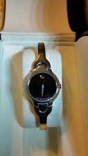 MOVADO KARA BLACK FACE LADIES WRIST WATCH 84A11846 saphire crystral