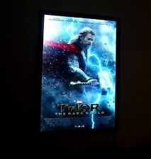Illuminated Backlit Poster Light Box LED Backlit Movie Poster Frame Black