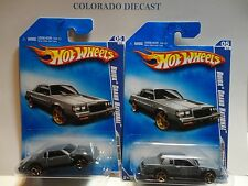 2009 Hot Wheels #131 Grey Buick Grand National w/ & w/o Painted Grill