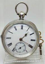 Antique solid silver gents chunky W. Ehrhardt London pocket watch 1899 working