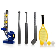 Dimple 4 IN 1 Power-Pro Pitching Machine Baseball  Cricket  Tennis  Hockey -Blue