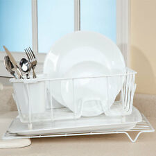 Tilted Dish Sink Drainer Rack - No More Kitchen Pooling Drains Excess Water New