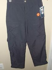NWT White Sierra Youth Lg Gray Zip Off Convertible Pants Shorts UPF 30 Hiking