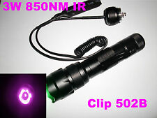 Ultrafire 502B 3W 850nm CREE Infrared LED IR Infra Red flashlight night vision