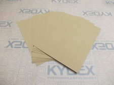 11 PIECES KYDEX T SHEET 297 X 210 X 2MM A4 SIZE COYOTE BROWN HAIRCELL FINISH