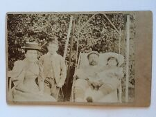 Large Victorian Cabinet Card Photograph (CDV) - Unknown Informal Scottish Family